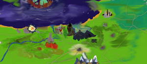 Country Map of Disney city update3 by ReaverPan