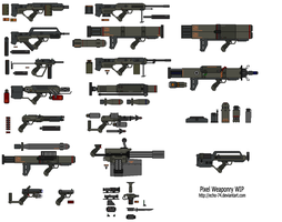 Pixel Weaponry WIP by EcHo-74