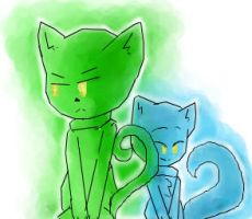 Blue and green color CATSS by symphonyb