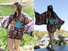 Yukata Inspired Top by Galatea-Sazuki
