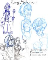 King Solomon Sketches by Kenny-boy