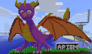 Minecraft Spyro by TheApiem