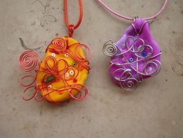 Fimo with Wire by Sompy-Stuff