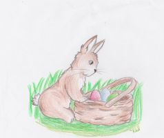 Easter Bunny by artloverrsnp