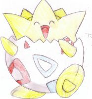 Pokemon- Togepi colored by lucinda3rd