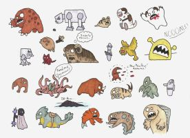 Star Wars Blobbies: Critters and Droids by Allison-beriyani