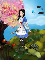 Alice Liddell in Vale of Tears by kamiliazizah