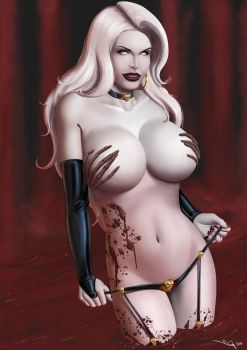 Commission: Lady Death by iurypadilha
