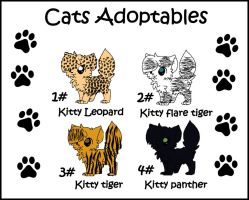 Cats Adoptables (OPEN) by Lyd2000
