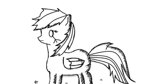 MLP-Shade-RD-Trust Mouse-UnColored-MSpaint by UnicornOfShadows