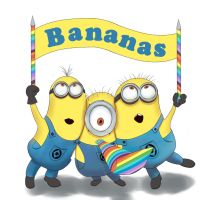 Minions (Despicable Me 2) by Romwba