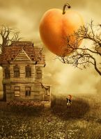 The Giant Peach by vampirekingdom