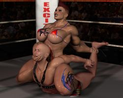 A variation of camel clutch by Innokentius