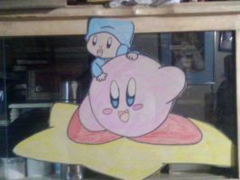Paper Kirby and Pocoyo by murumokirby360