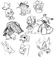Pokemon Sketches 1 by anniemae04