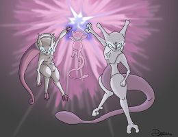 The Mew Family by WacomDragonArtist