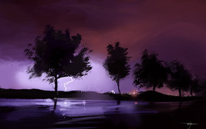 Lightning Study by Syntaxide
