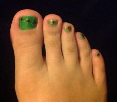 My Christmas toe nails by Prince5s