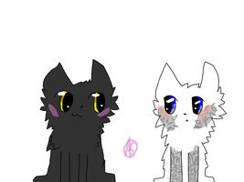 Breezepelt and Ivypool by Willow--Rain
