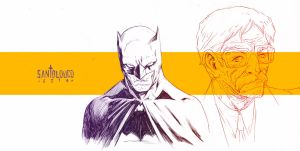 Batman_sketch by Santolouco