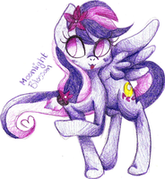 Request from Hoshiko282 - Moonlight Blossom by AleshaTheFox