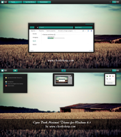 Cyan Dark MiniMal Theme For Windows 8.1 by cu88