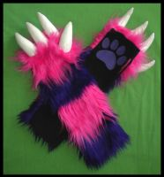 Cheshire Cat Monster Armwarmer by StuffItCreations