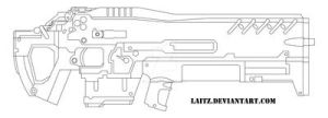AGR-14 Rifle: Blueprints by Laitz