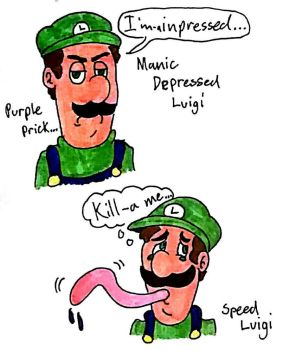 The Two Faced Green Plumber by LUVKitty13