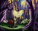 Light in the forest by MyOwnPiranhaBabies