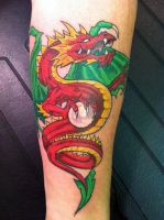 Red Dragon Tattoo by NarcissusTattoos