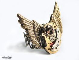 Fin de siecle - Steampunk Ring by BaziKotek