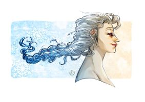 The Frozen in the hair by AkumA-die