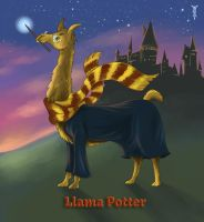 Daily Llama Project - Llama Potter by TrollGirl