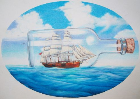 Ship in a Bottle by Tolkyes