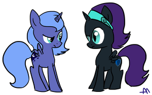 Nyx and Luna by Bananers97