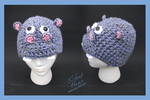 Hippo Crochet Hat by Silent--Haze