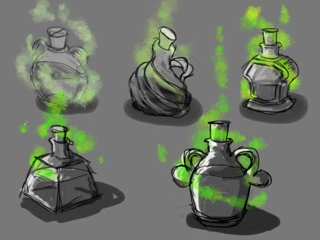 Potion Concepts by mark-san