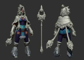 Dota 2 - Crystal Maiden - Snowdrop : Highpoly by Anuxinamoon