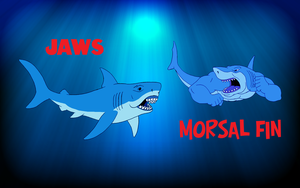Morsal Fin vs Jaws by BennytheBeast