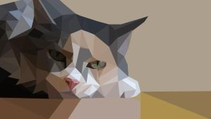Low poly version of my cat by JLsketch