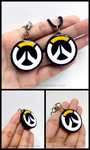 Overwatch Logo Charm Keychain or Necklace by WINGEDLESS