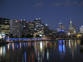 Melbourne at twilight by GrumpySnapper