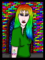 Woman in Green Shirt 2 by GothicPrincess1974