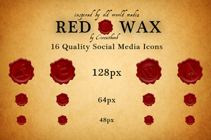RedWax Social Media Icons by circuitbomb