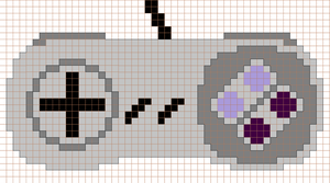 Snes Controller Cross Stitch Pattern by moonprincessluna