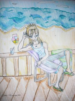 Relaxing on the Beach by Gothic-Romantic99