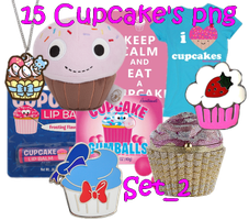 15 Cupcake's PNG Set_2 by JEricaM