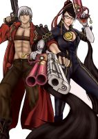 Dante - Bayonetta Color by 0-Pau-0