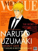 Fashion Magazine Cover: Naruto Version by romizoh373